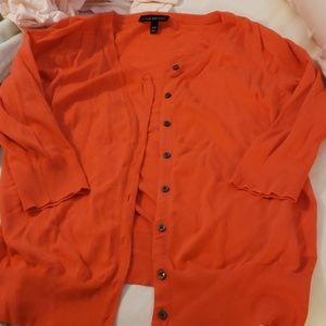 Cardigan tangerine orange